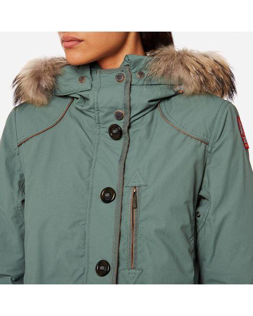 parajumpers green borah coat lyst parajumpers green borah coat lyst; parajumpers long bear velvet ...