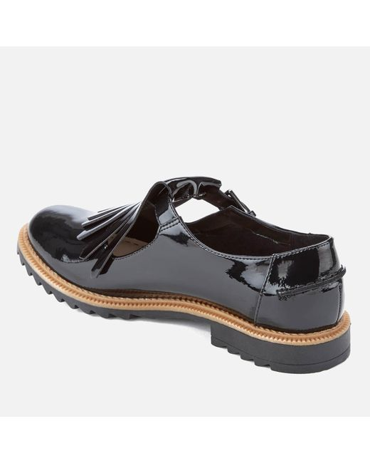 28846d74a378 ... Clarks - Black Griffin Mia Patent Frill T Bar Shoes - Lyst ...