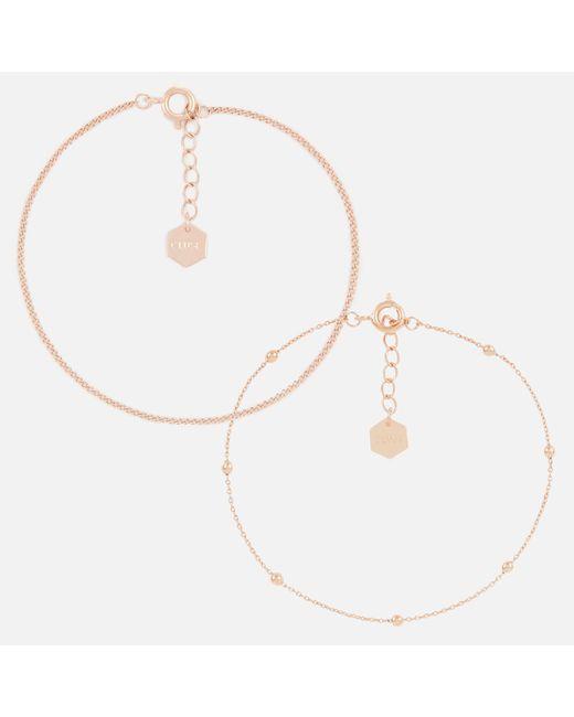 Cluse - Multicolor Essentielle Set Of Two Fine Bracelets - Lyst