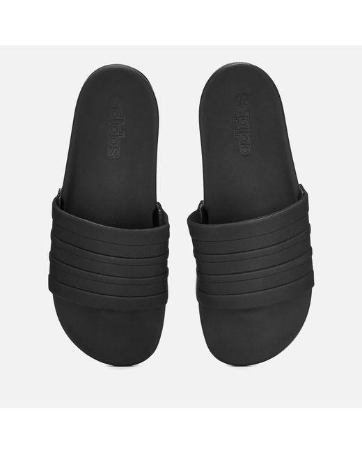 6d07d6969b0d Adidas - Black Adilette Comfort Slide Sandals for Men - Lyst ...