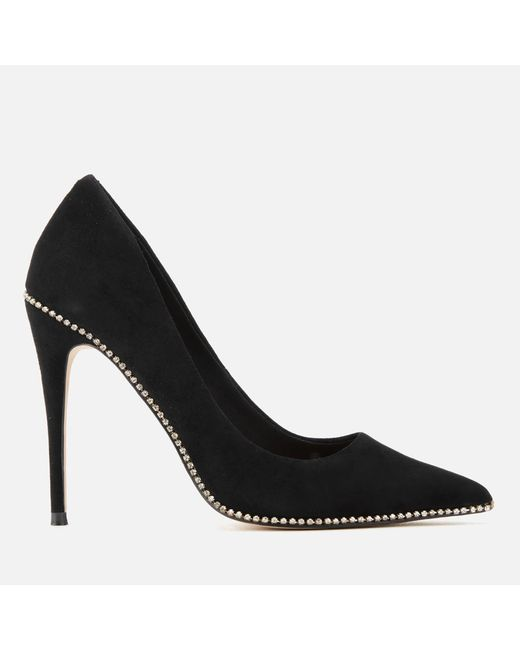 Kurt Geiger - Black Envy Suede Court Shoes - Lyst