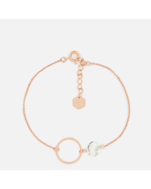 Cluse - Multicolor Idylle Marble Hexagon Chain Bracelet - Lyst