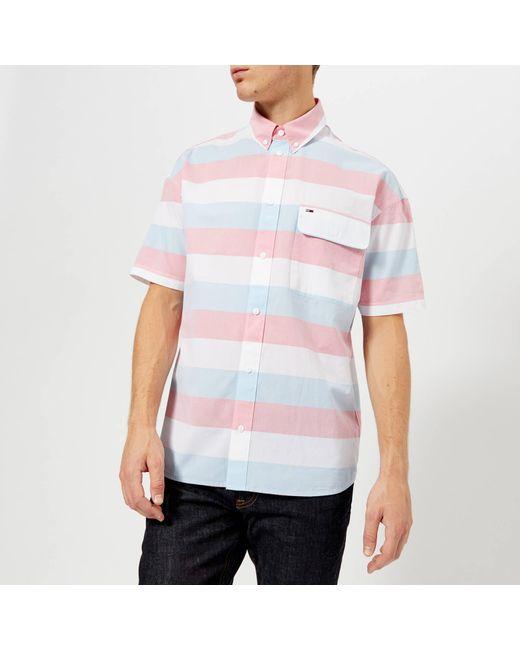 21094750 Tommy Hilfiger - Multicolor Summer Stripe Short Sleeve Shirt for Men - Lyst  ...
