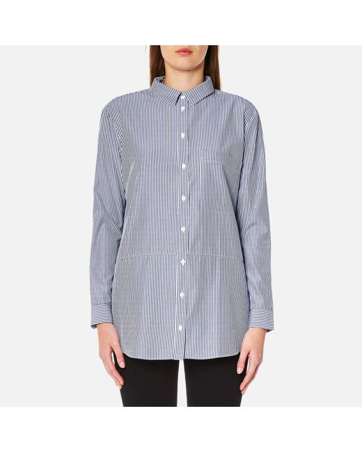 SELECTED - Blue Cally Long Sleeve Shirt - Lyst
