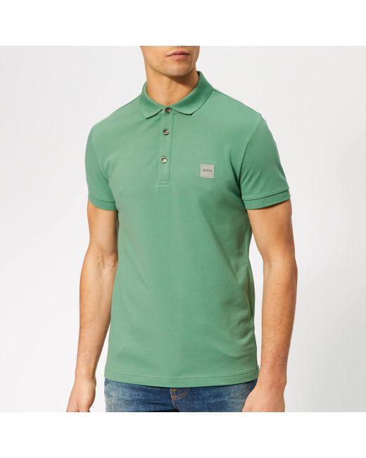 2023e5bb BOSS - Green Passenger Polo Shirt for Men - Lyst ...