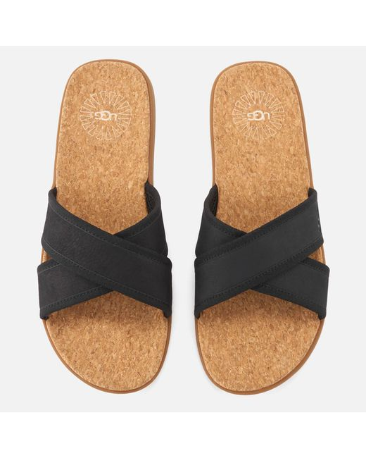Ugg - Black Seaside Slide Sandals - Lyst