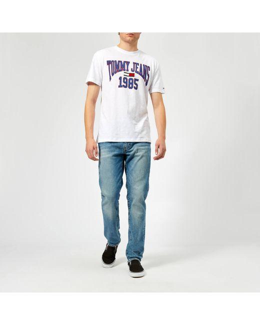 d710ae37 ... Tommy Hilfiger - White Tjm Collegiate Logo T-shirt for Men - Lyst ...
