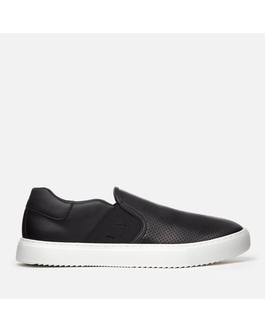 Armani Exchange - Black Slip-on Trainers for Men - Lyst