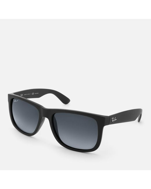 240608e918 ... Ray-Ban - Black Justin Square Frame Sunglasses for Men - Lyst ...