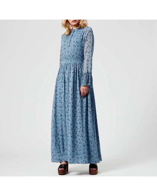 40f6aceb883 Gestuz - Blue Jeanett Long Dress - Lyst ...