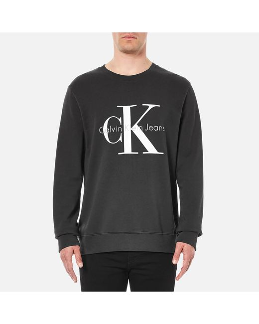 Calvin Klein - Black 90's Re-issue Sweatshirt for Men - Lyst
