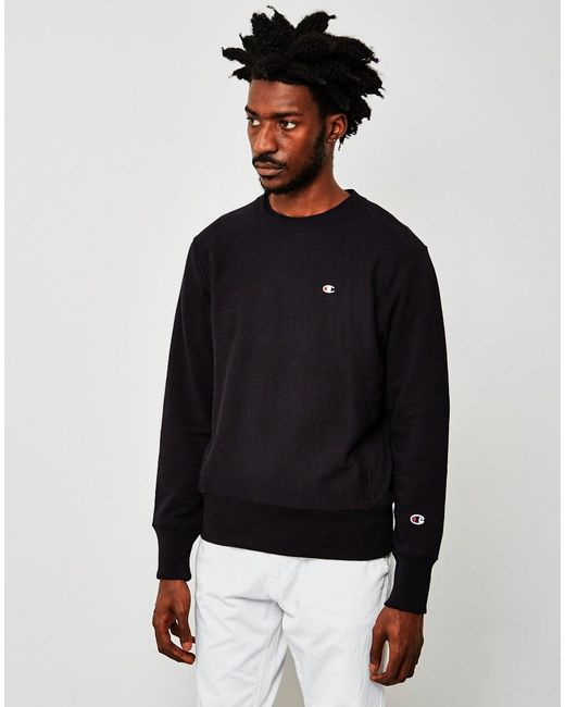 Champion | Classic Reverse Weave Sweatshirt Black for Men | Lyst