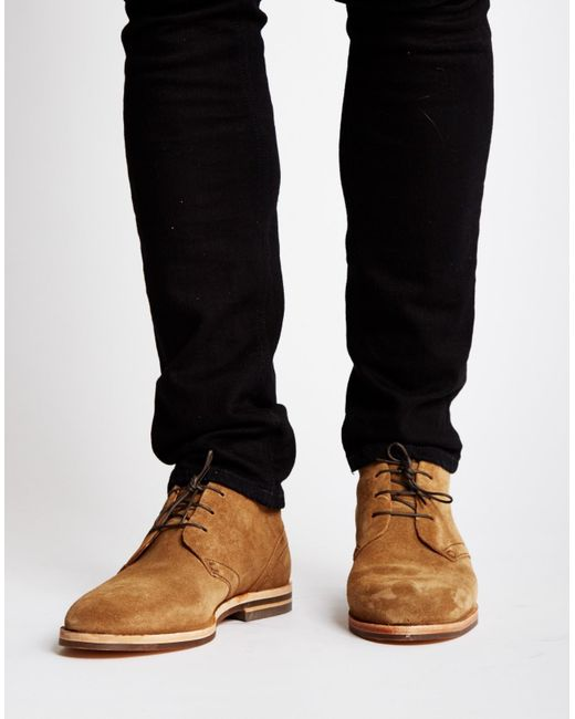 Hudson Jeans Houghton Suede Chukka Boot Brown In Brown For