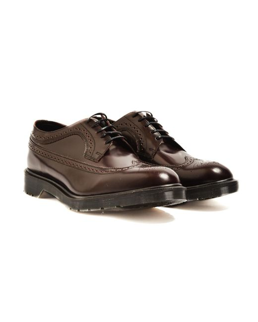 Dr. Martens | Brown Classic Brogue Shoe Burgundy for Men | Lyst