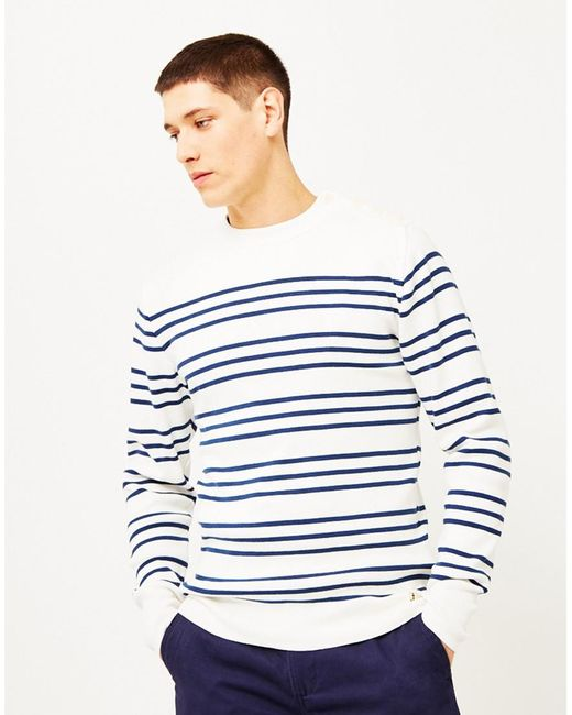 Armor Lux | Double Stripe Mariner Sweater Off White for Men | Lyst