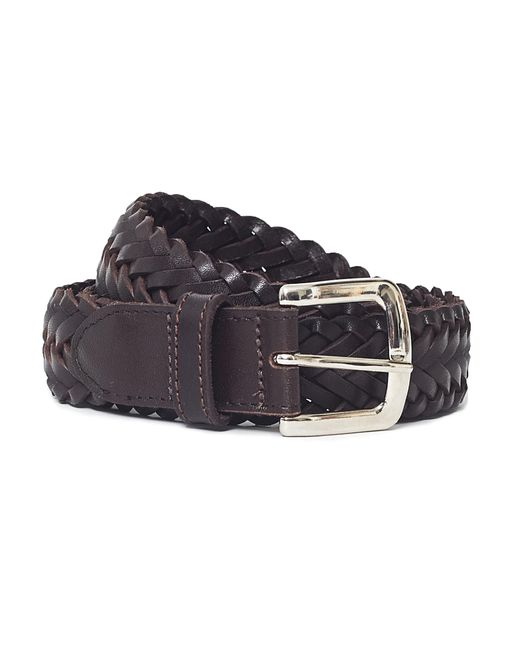 The Idle Man | Leather Plait Belt Brown for Men | Lyst