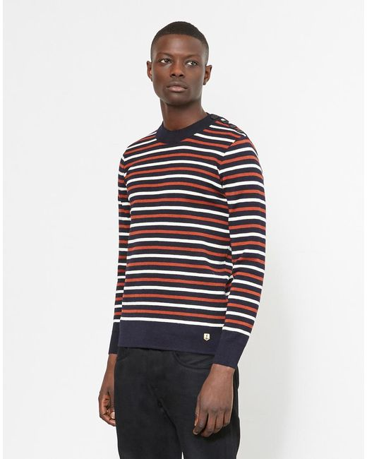 Armor Lux - Blue Armor-lux Pull Marin Heritage Jumper Navy for Men - Lyst
