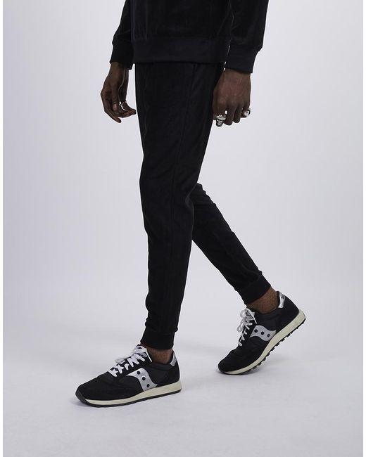 945fa6af94f45 The Idle Man Velvet Sweat Pant Black in Black for Men - Lyst