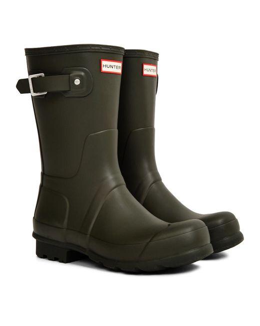 Hunter - Brown Original Short Rain Boot Green for Men - Lyst
