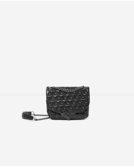 e3728281a2 The Kooples - Mini Black Leather Bag With Silver Studs Stella By - Lyst ...