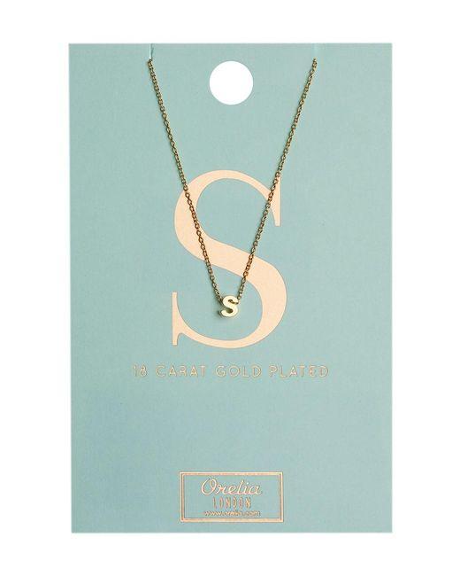 Orelia - Metallic Necklace Initial S - Lyst