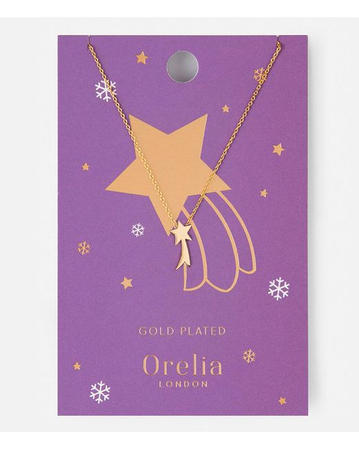 Orelia | Metallic Shooting Star Charm Necklace | Lyst