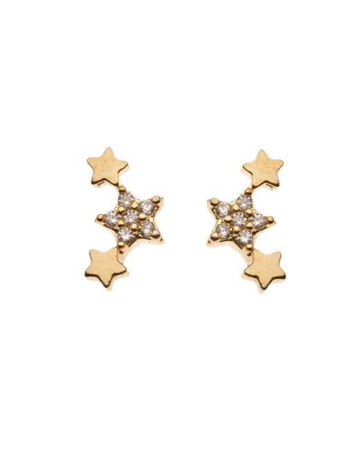 Orelia | Metallic Triple Star Earrings | Lyst