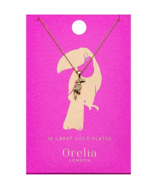 Orelia | Metallic Toucan Ditsy Necklace | Lyst