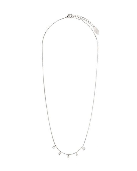 Orelia | Metallic Dream Charm Script Necklace | Lyst