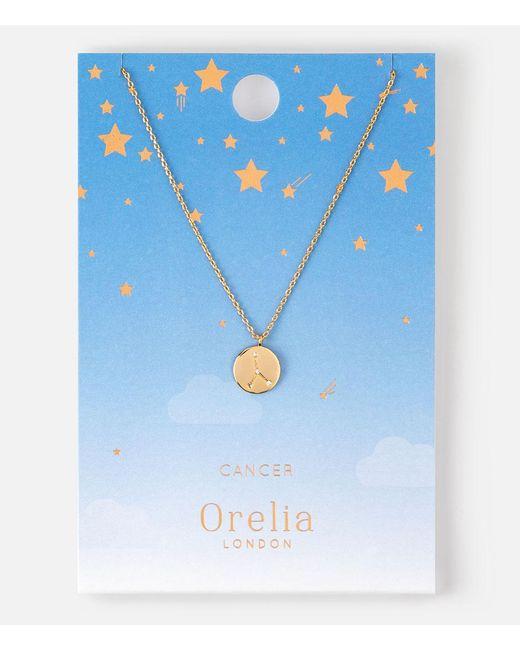 Orelia   Metallic Cancer Constellation Necklace   Lyst