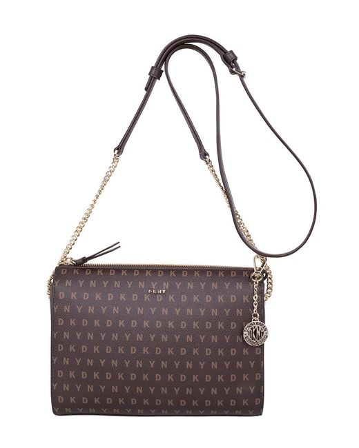 DKNY | Brown Small Top Zip Crossbody | Lyst