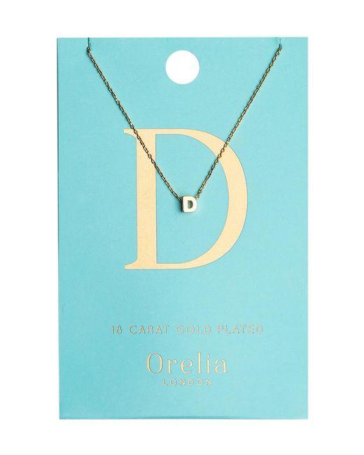 Orelia - Blue Necklace Initial D - Lyst