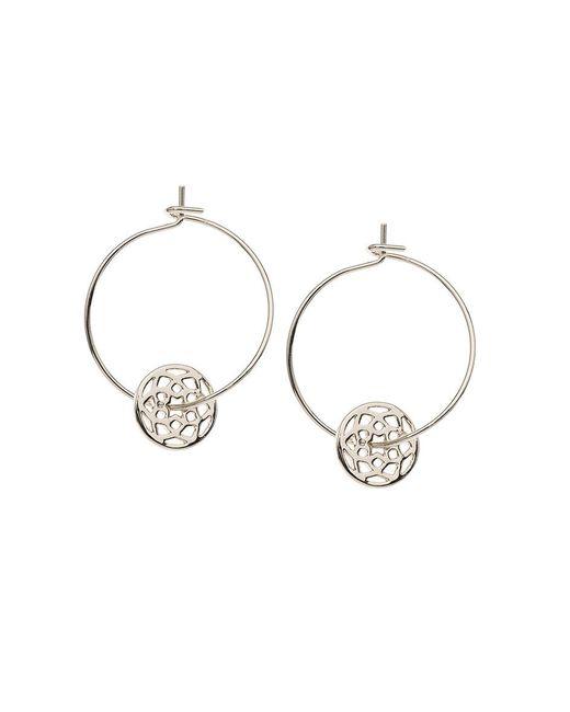 Orelia - Metallic Chakra Thread Through Hoops - Lyst