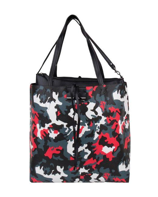 66dfbdff0ff4 Guess - Black Bobbi Large Inside Out Shopper - Lyst ...