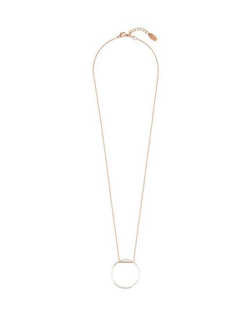 Orelia - Metallic Mix Plate Long Open Circle Necklace - Lyst