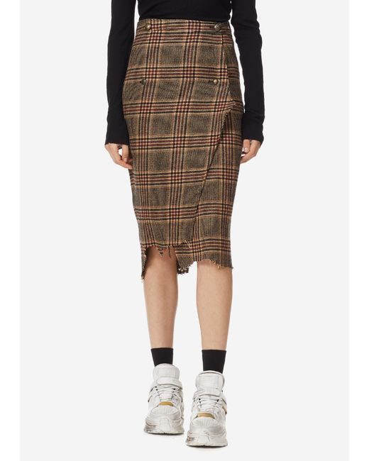 Vetements - Multicolor Wrapped Pencil Skirt - Lyst