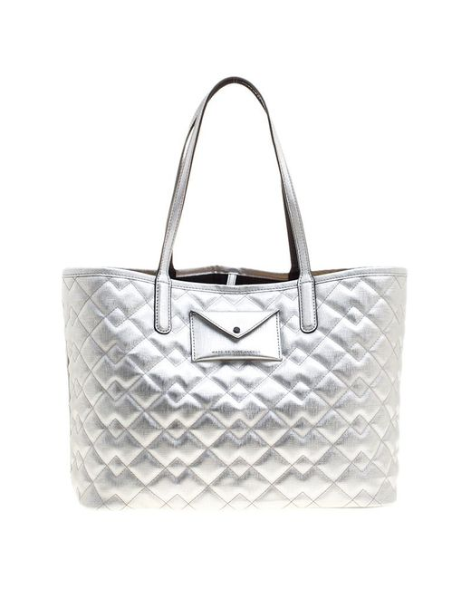 Marc By Marc Jacobs - Metallic Quilted Pvc Metropolitote Bag - Lyst