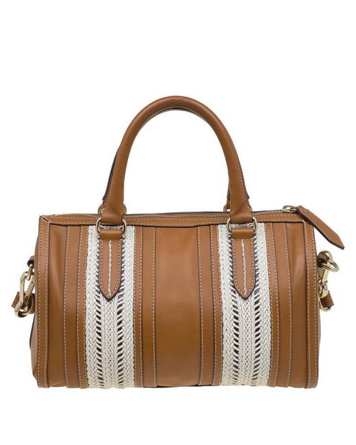 eb6cb9c8a603 ... Burberry - Brown Leather Rope Alchester Bowling Bag - Lyst ...