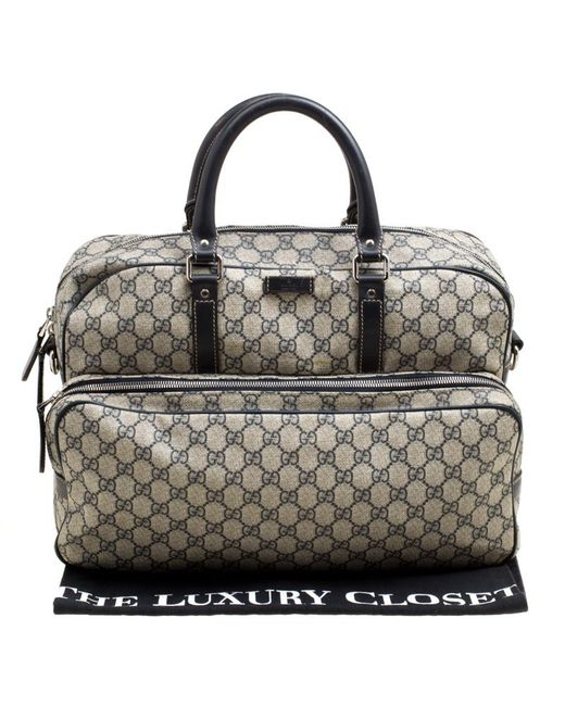f968ad27c1e378 ... Gucci - Natural Beige/blue GG Supreme Canvas And Leather Diaper Bag -  Lyst ...