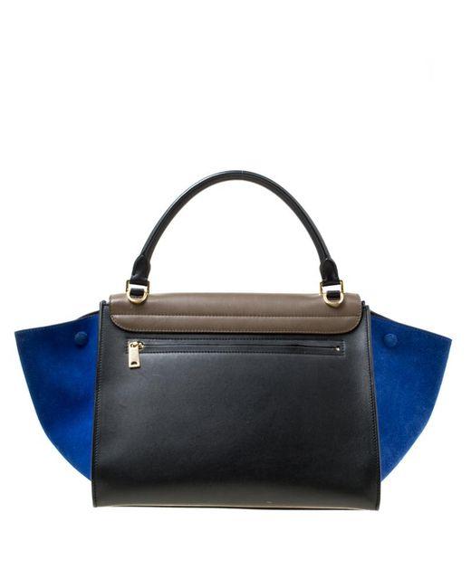 3ee37dc8ebd ... Céline - Multicolor Tri Color Leather And Suede Medium Trapeze Bag -  Lyst ...