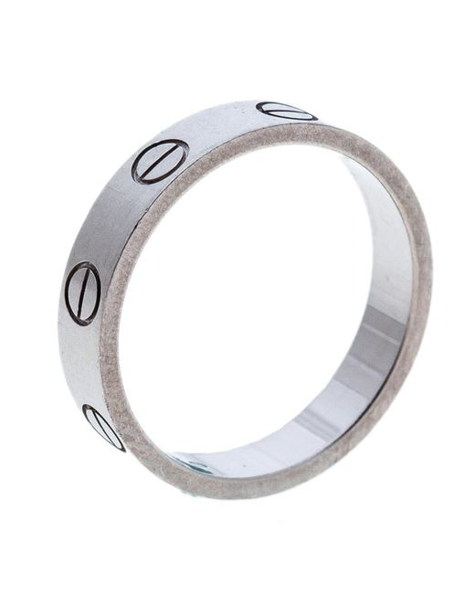 Cartier - Metallic Love 18k White Gold Mini Ring Size 49 - Lyst