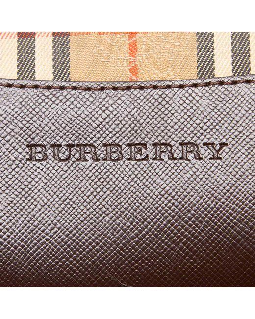 4ec32e8a87c2 Lyst - Burberry Beige Brown Plaid Canvas Tote Bag in Brown