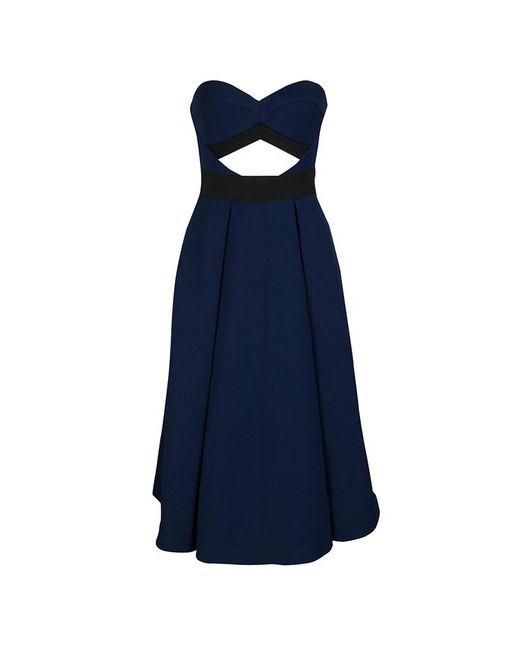 Self-Portrait - Blue Cutout Detail Strapless Lulu Dress S - Lyst
