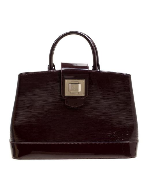Louis Vuitton - Brown Burgundy Electric Epi Leather Mirabeau Gm Bag - Lyst