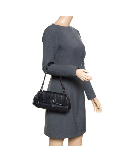 a4790c4a8f14 ... Chanel - Black Vertical Quilted Leather Accordion Flap Bag - Lyst ...