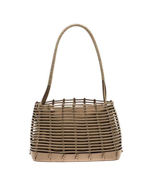 Ferragamo - Brown Light Caged Leather Tote - Lyst