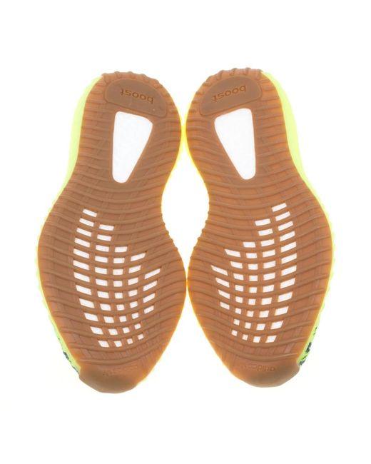 b4fa49f10b0 ... Yeezy - Gray X Adidas Semi Frozen Yellow Cotton Knit Boost 350 V2 Zebra  Sneakers Size ...