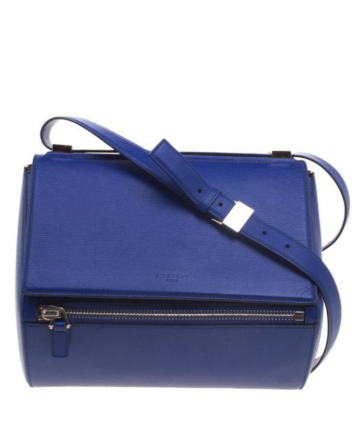 Givenchy - Blue Leather Medium Pandora Box Bag - Lyst ... fd90a32bbecbb