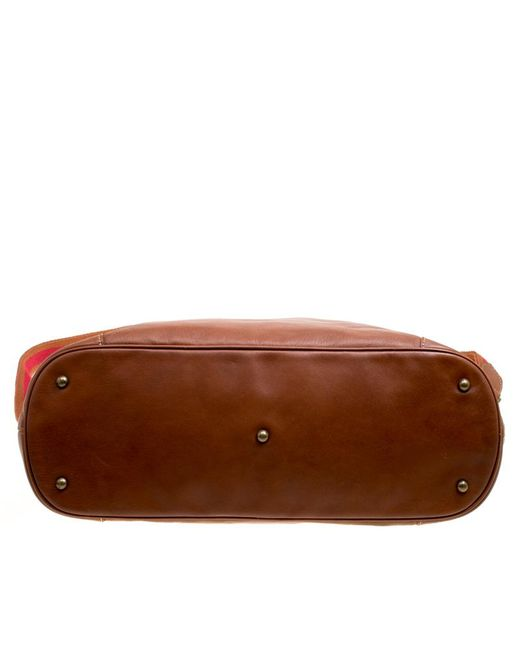 1220cd0c1ab3 ... Longchamp - Brown Leather Au Sultan Top Handle Bag - Lyst ...