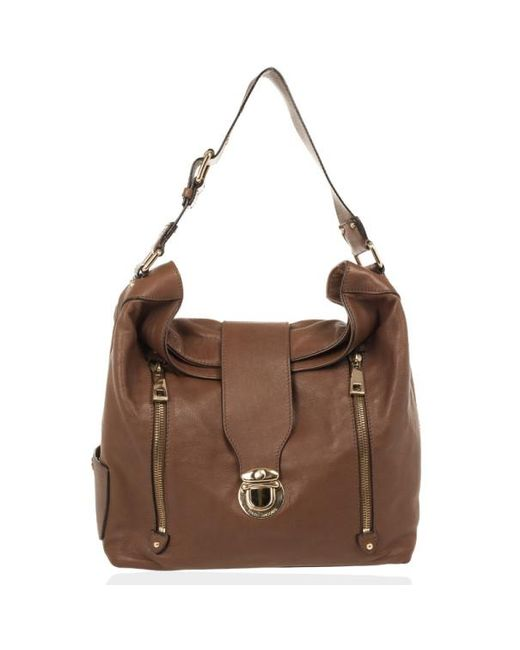 4d2023ee56a6 Marc Jacobs - Brown Leather Amy With Zippers Hobo - Lyst ...